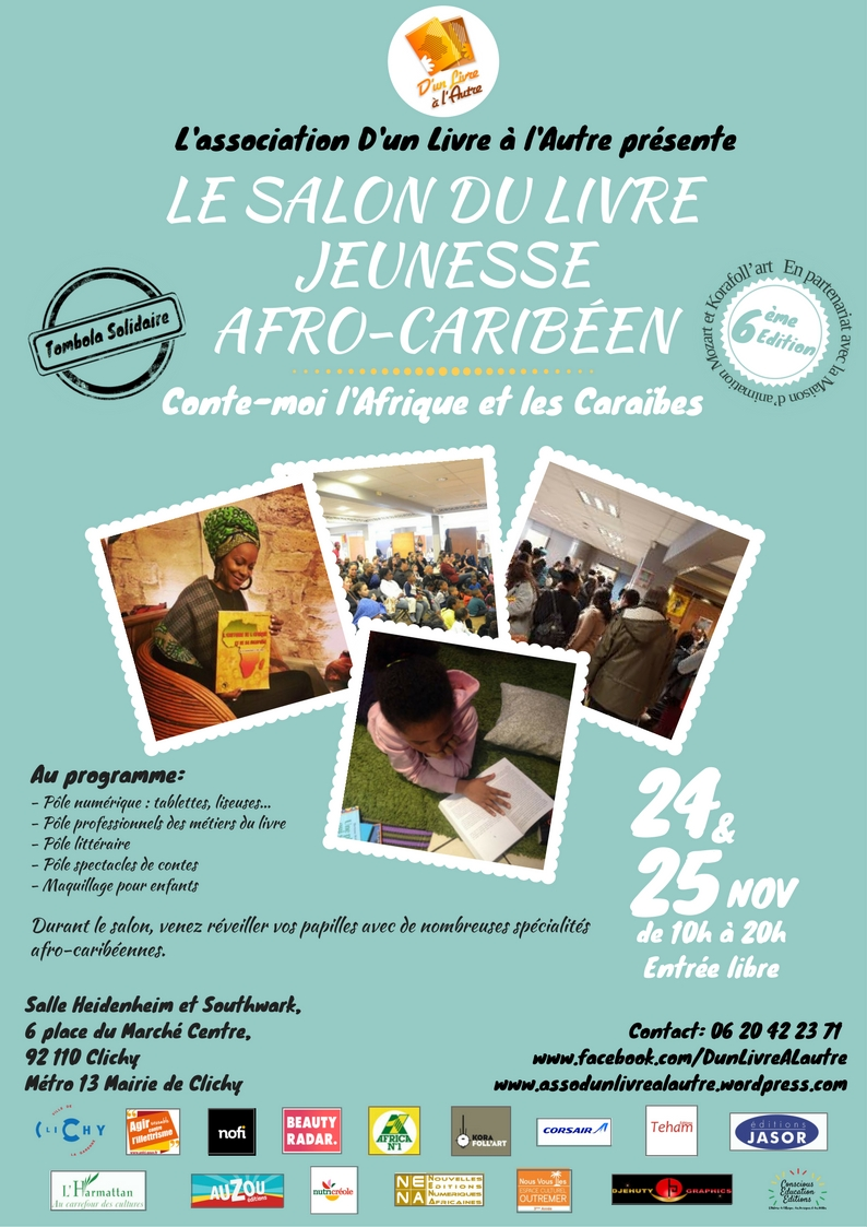 24 et 25 novembre 2017 6 me salon du livre jeunesse afro for Salon du livre 2017 montreuil
